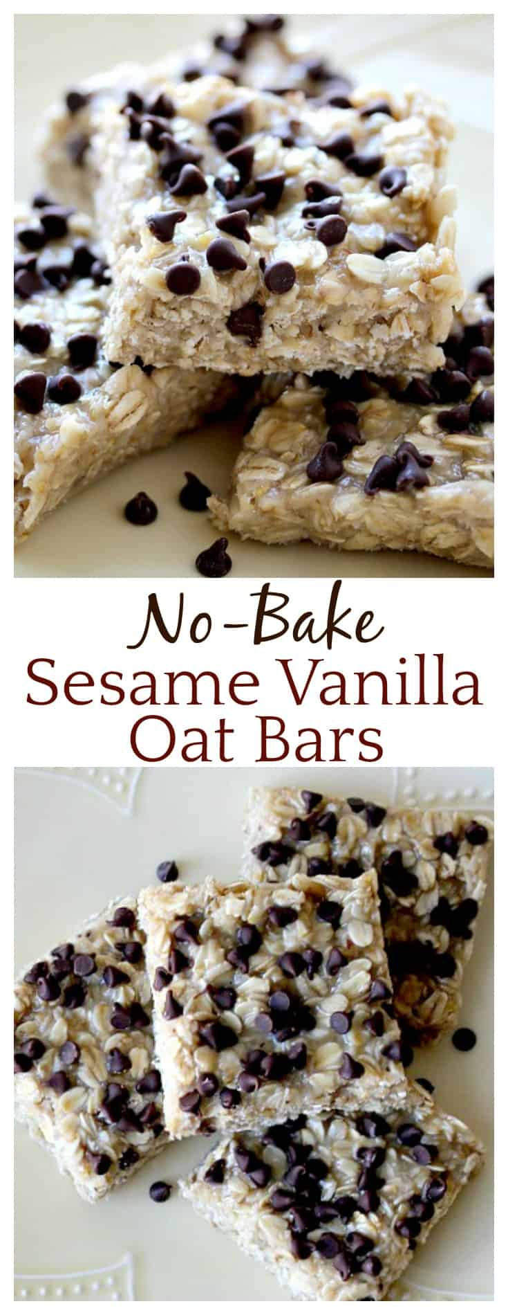 These No Bake Sesame Vanilla Oat Bars really were a nice change from all the peanut butter recipes out there! They are really delicious and super easy to make too!