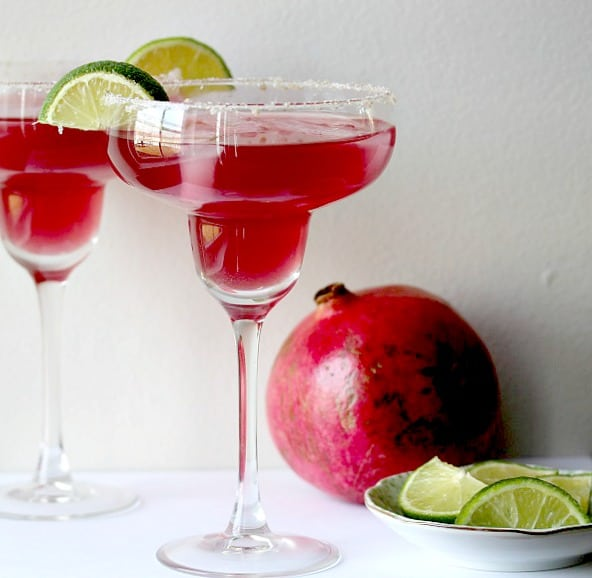 Mixed-Up Pomegranate Lime Margarita