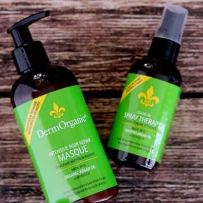 DermOrganic Intensive Hair Repair Masque Review + Shine Spray