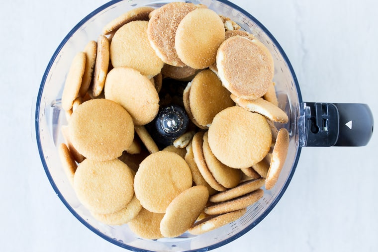 Nilla Wafer cookies in a food processor