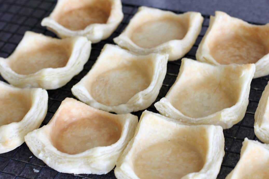 Finished Puff Pastry Cups