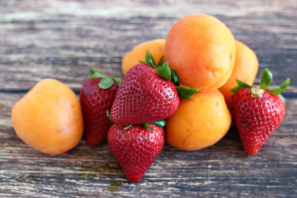 Strawberries and Apricots