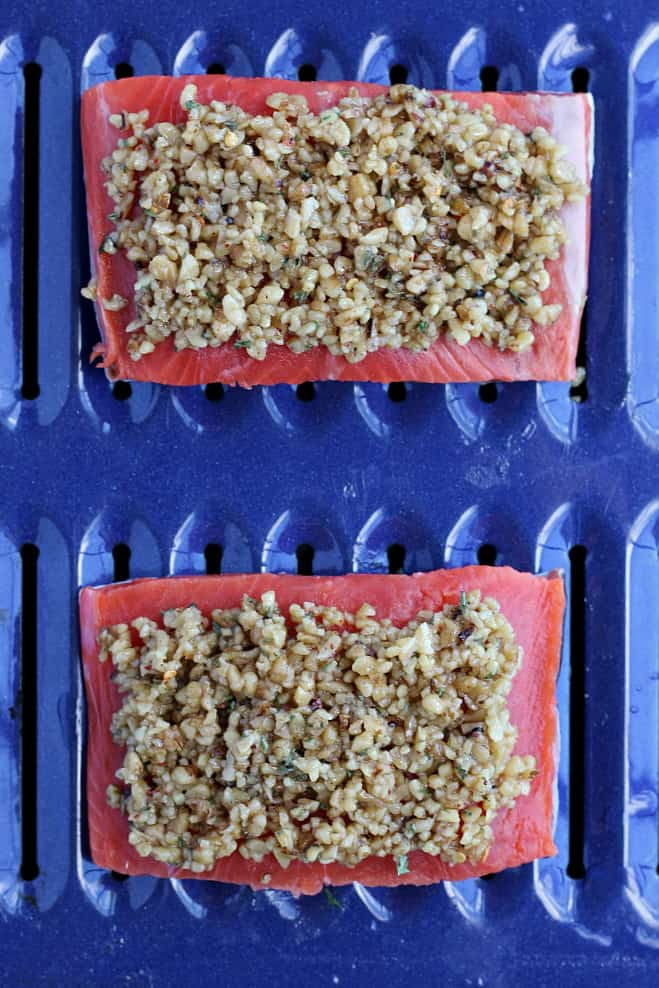 Walnut Crusted Salmon Fillets