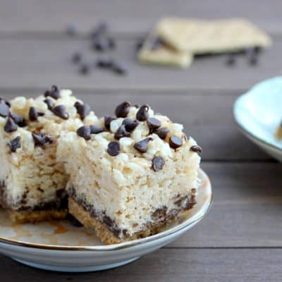 Layered S'mores Rice Krispie Treats