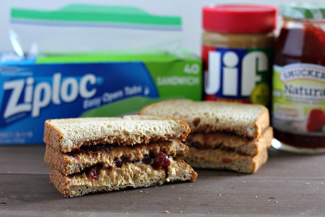 Finished Big Kid PBJ Sandwich