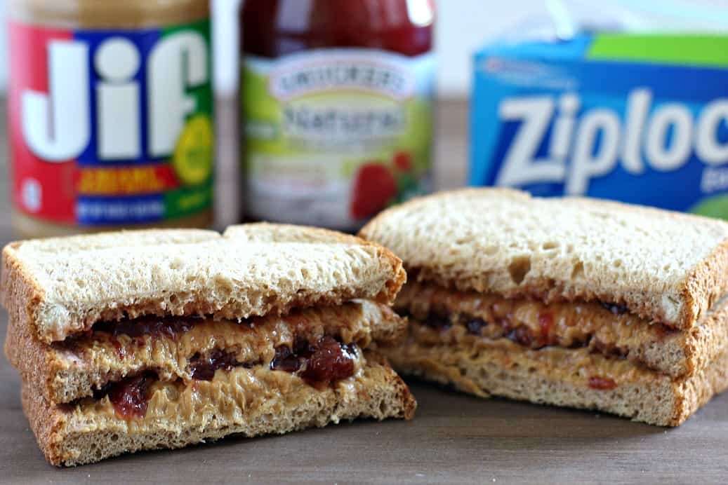 Big Kid PBJ Sandwich