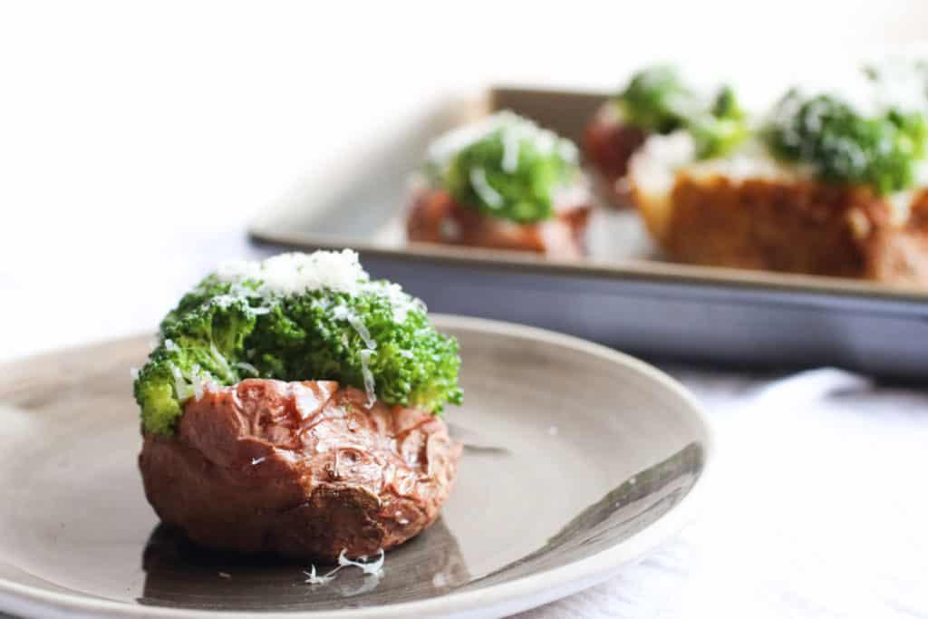 Parmesan Broccoli Loaded Potatoes