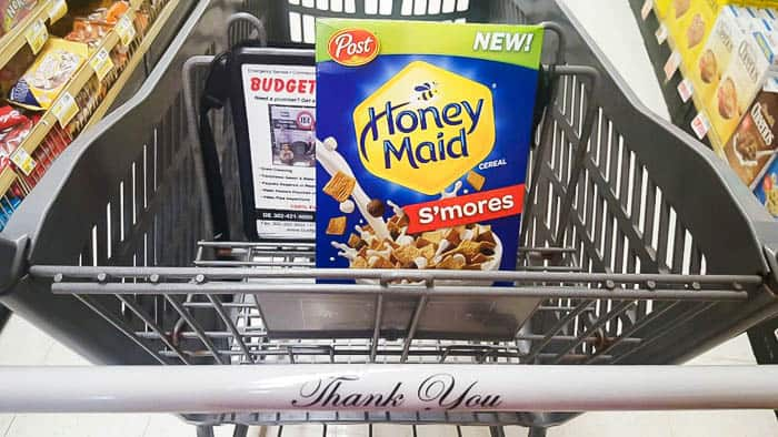 Honey Maid S'mores Cereal in Shopping Cart