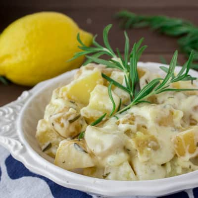 Creamy Rosemary Lemon Potatoes