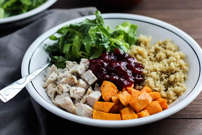 Finished Healthy Turkey Quinoa Bowl