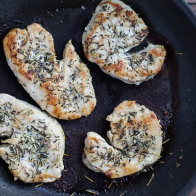 Pan Seared Turkey Cutlets