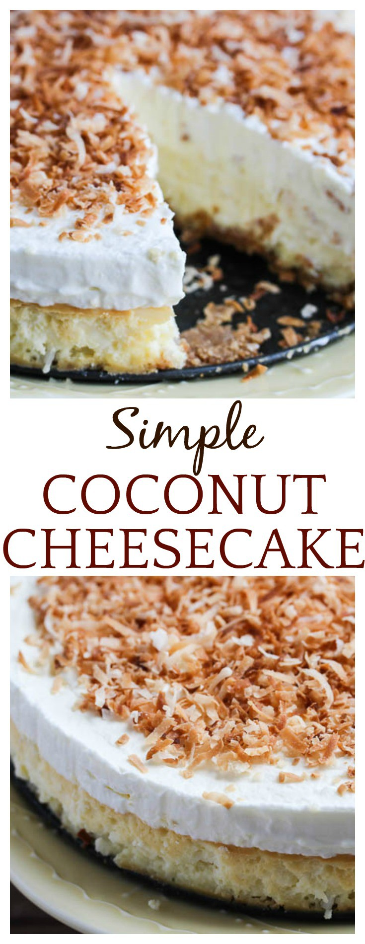 Do you love homemade cheesecake, but hate the hassle of making them? Try this Simple Coconut Cheesecake using The Cheesecake Factory at Home mix!So easy, so delicious! It's a delicious dessert recipe that's perfect for every occasion from holidays to just because! #ad #MyCheesecake #CheesecakeFactoryatHome #cheesecake #coconut #coconutcheesecake #baking #dessert #easyrecipe