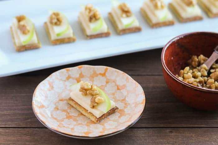 White Cheddar Apple Crackers with Honeyed Walnuts