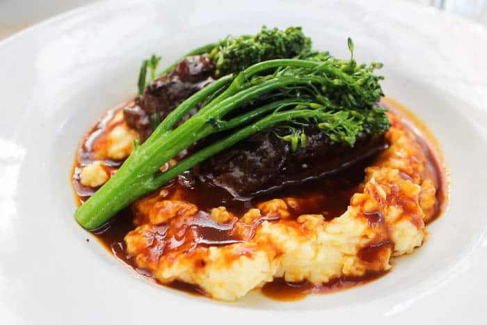 Braised Short Ribs with Mascarpone Polenta and Broccolini