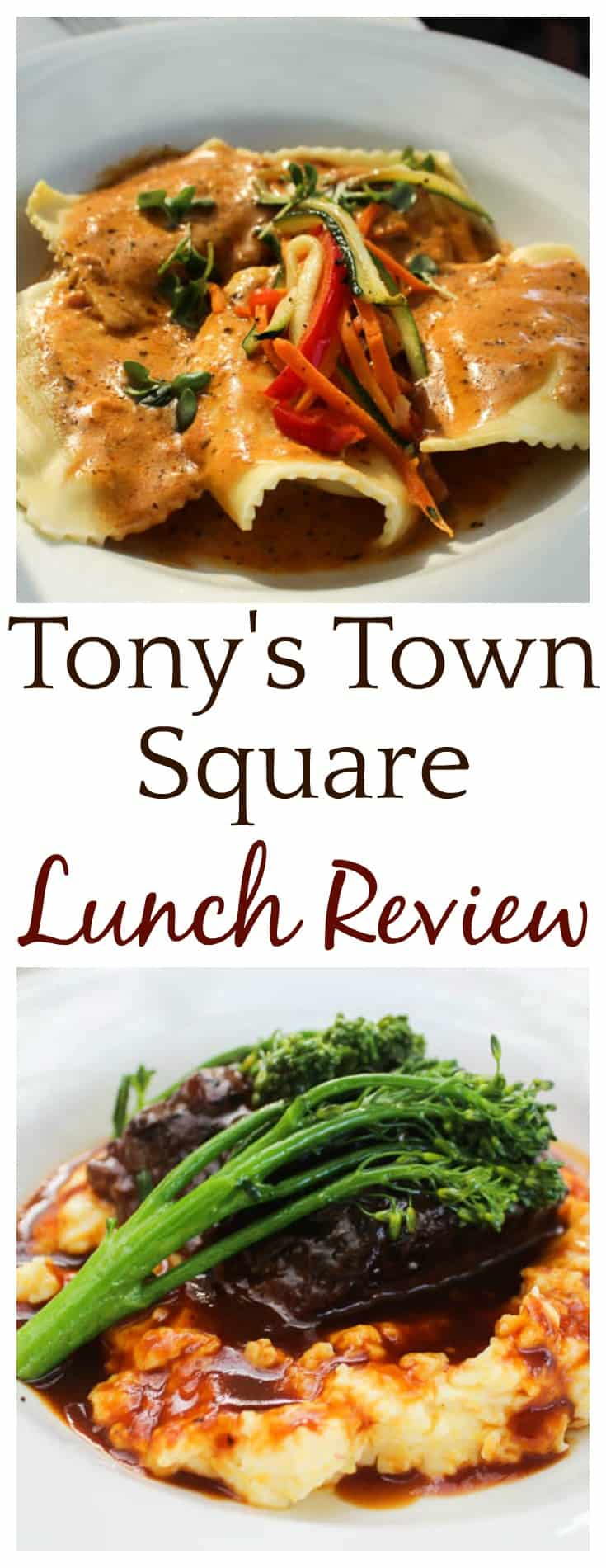 This Tony's Town Square Lunch Review is based on my experience when visiting the restaurant in November 2017 with my family | #disneydining #disneytravel #disney #disneyworld #restaurantreview #tonystownsquare