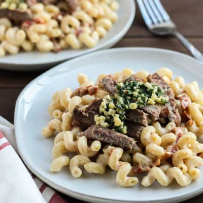 Tuscan Inspired Steak and Pasta