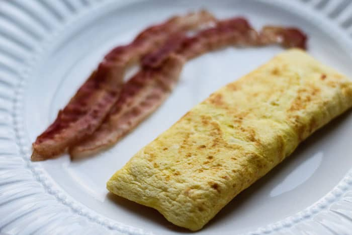 Plain Omelet with Bacon