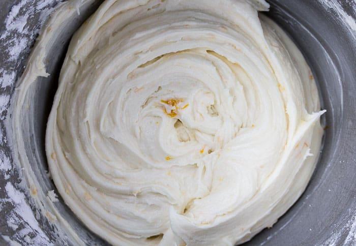 Lemon Buttercream Icing in a Bowl