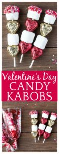 These Valentine's Day Candy Kabobs are a fun Valentine's Day Craft Idea and make really special gifts as well! #valentinesday #valentinesdaycraft #valentinesdaygift #candykabobs #dlbrecipes | valentine's day kids craft idea