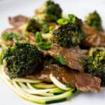 Low Carb Beef and Broccoli Zoodles