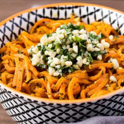 Vegetarian Carrot Pesto Pasta