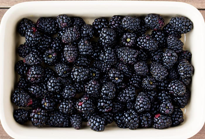 Blackberries in a Baking Dish