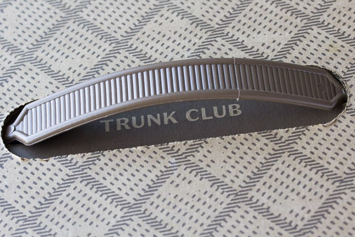 Trunk Club Box Handle from my May 2018 Trunk Club Review Box