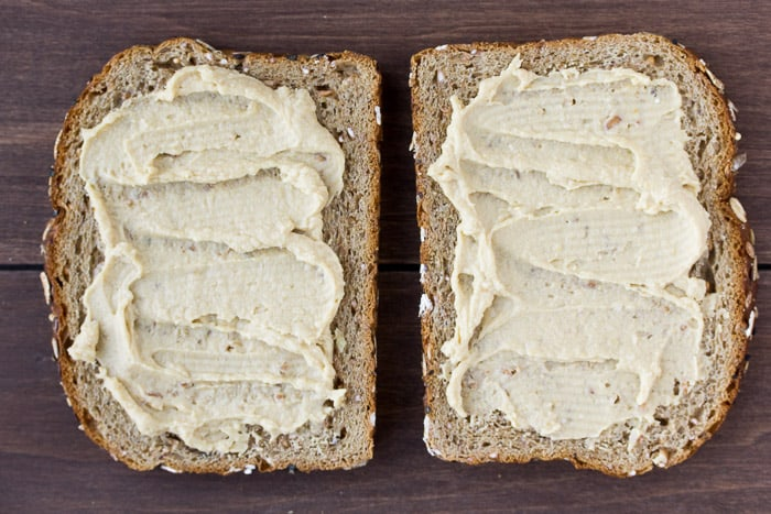 Hummus on Two Slices of Bread