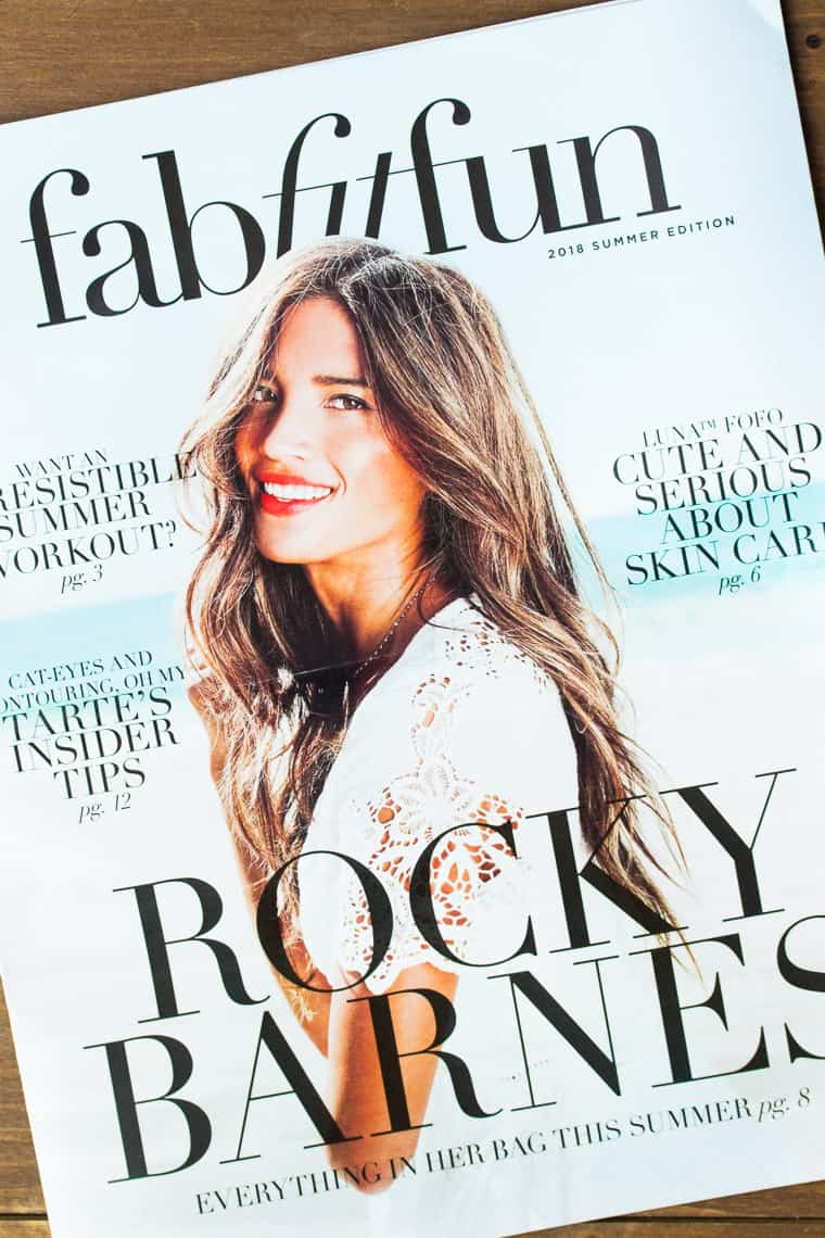 The Front Cover of the Summer FabFitFun Magazine