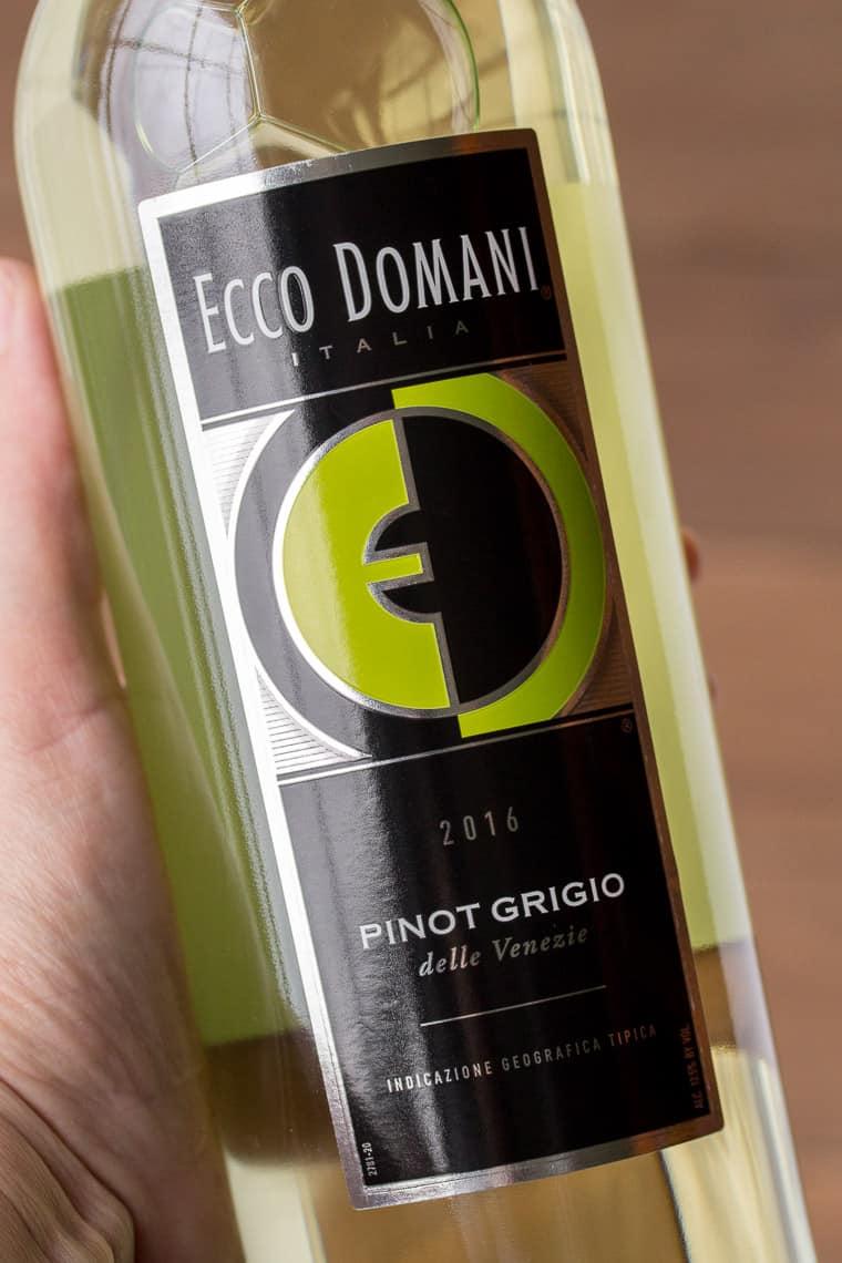 A Bottle of Ecco Domani Pinot Grigio
