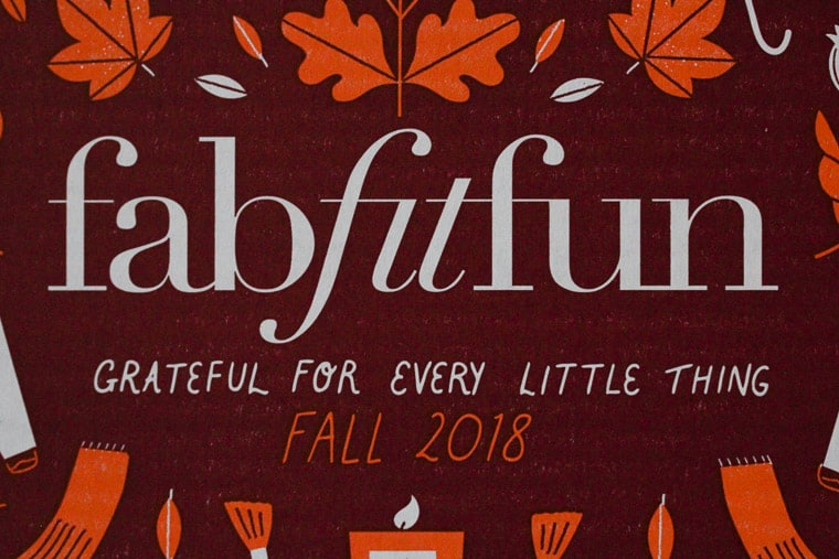 Inside of the FabFitFun Fall 2018 Box