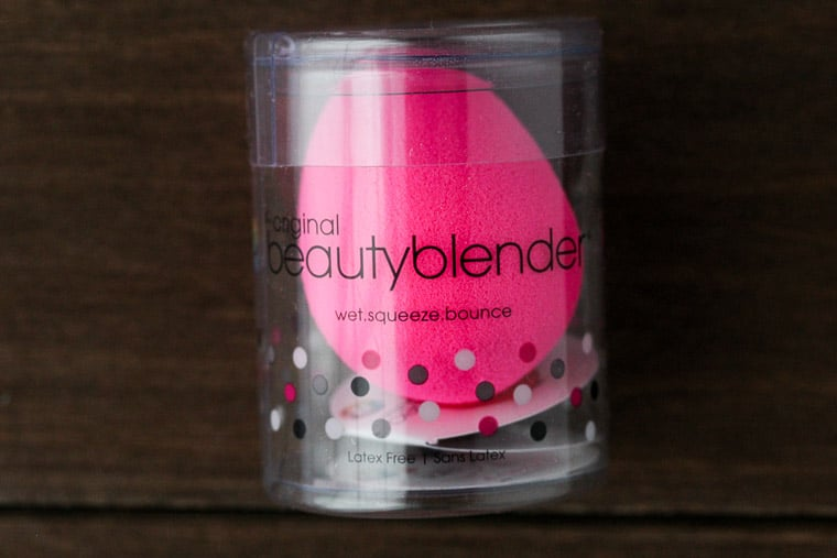 BeautyBlender on a Wood Backdrop