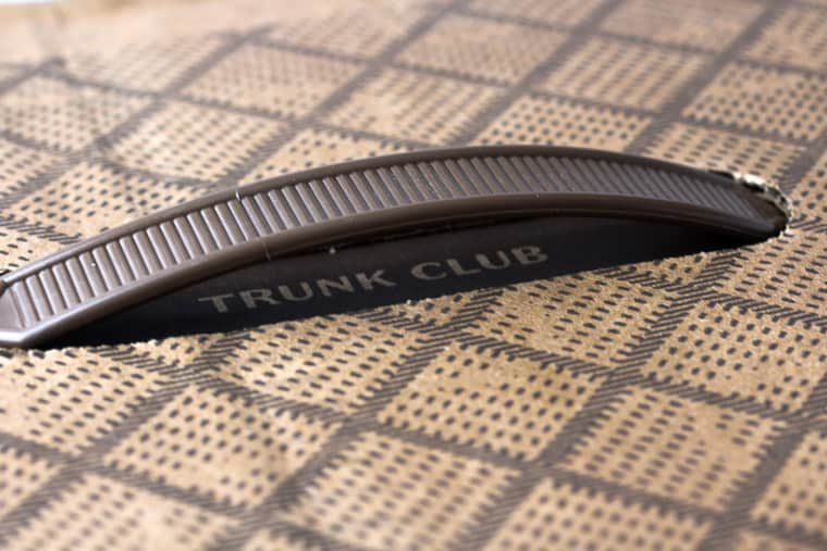 October 2018 Trunk Club Review Box with Logo and Handle
