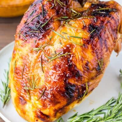 Rosemary Apricot Glazed Turkey