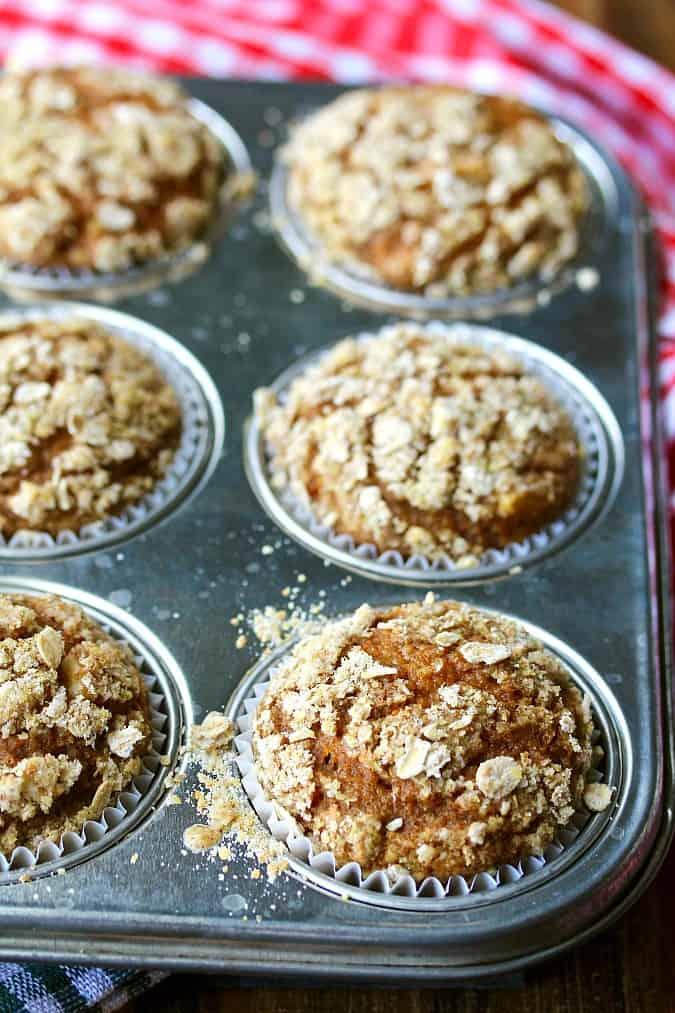 Butternut Squash Apple Muffins in Baking Tin