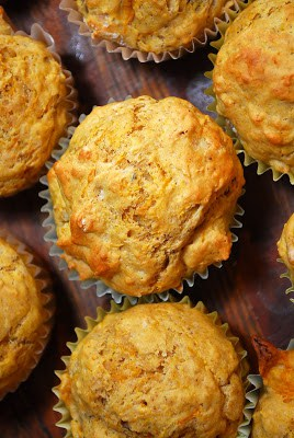 Butternut Squash Pecan Muffins Overhead View