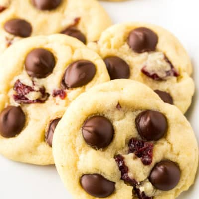 Soft Baked Dark Chocolate Chip Cranberry Cookies