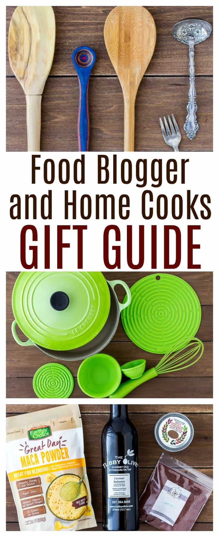 The Ultimate Food Blogger Gift Guide is perfect for home cooks as well. It contains everything you need to create delicious food and photography it beautifully as well! If you or someone you know loves cooking and baking, this gift list is full of great ideas! | #dlbrecipes #giftguide #cooking #baking #foodlover