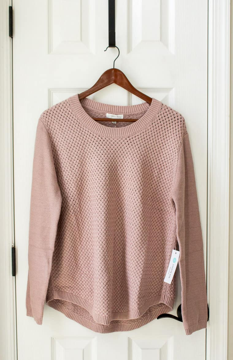 Stitch Fix August Mist Josey Textured Pullover