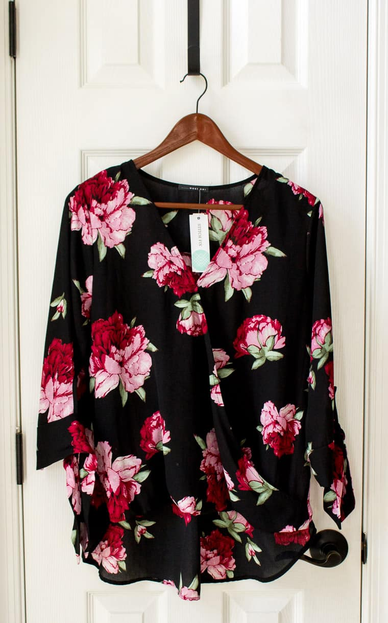 Stitch Fix West Kei Allan Tie Sleeve High Low Blouse