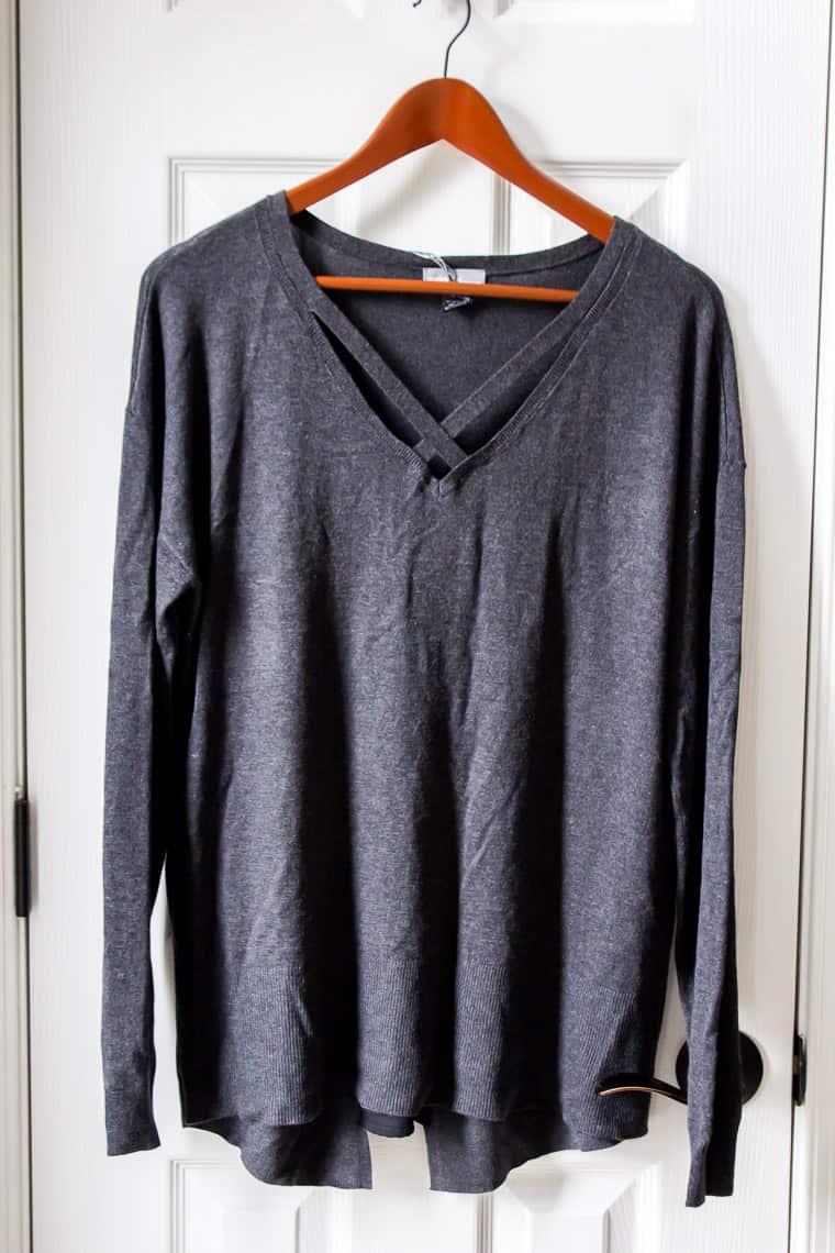 Stitch Fix Market & Spruce Tawnie Split Back Opening Pullover | AD #stitchfix #style #fashion #winterfashion