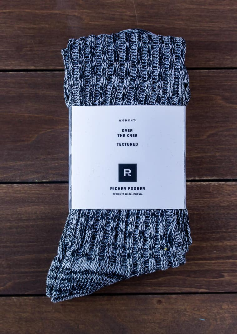 Richer Poorer Over the Knee Textured Socks