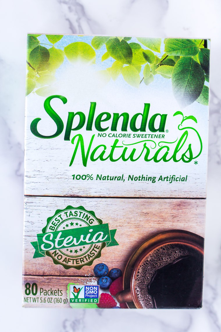 Splenda Naturals Box on a Marble Background