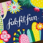 Winter 2019 FabFitFun Subscription Box on a wood backdrop