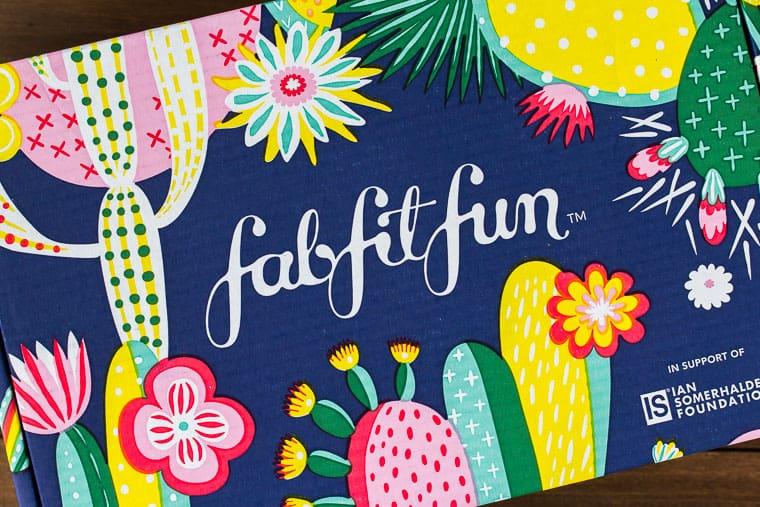 Winter 2019 FabFitFun Subscription Box on a wood backdrop