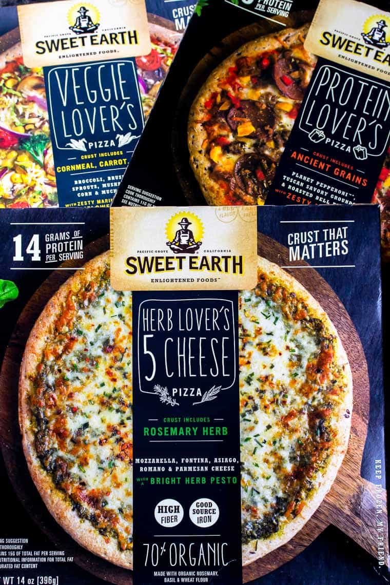 3 boxes of Sweet Earth Pizza