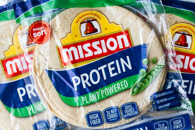Mission Protein Tortillas Wraps in Packaging