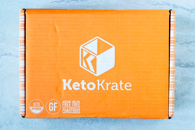 June 2020 Keto Krate box on a white background