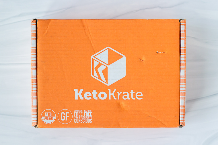 July 2020 Keto Krate Box on a white background