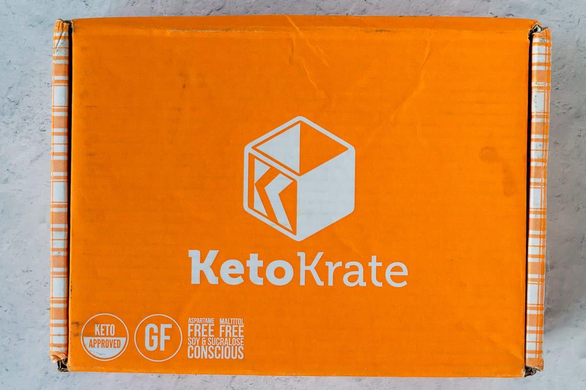 An orange keto krate box unopened
